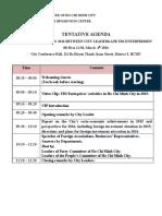 Agenda - 2016 New Year Meeting Between City Leaders and FDI Enterprises (4 Mar 16)