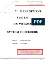 SOP-01 (Procedure for Document Control)