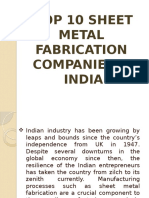 Top 10 Sheet Metal Fabrication Companies in India