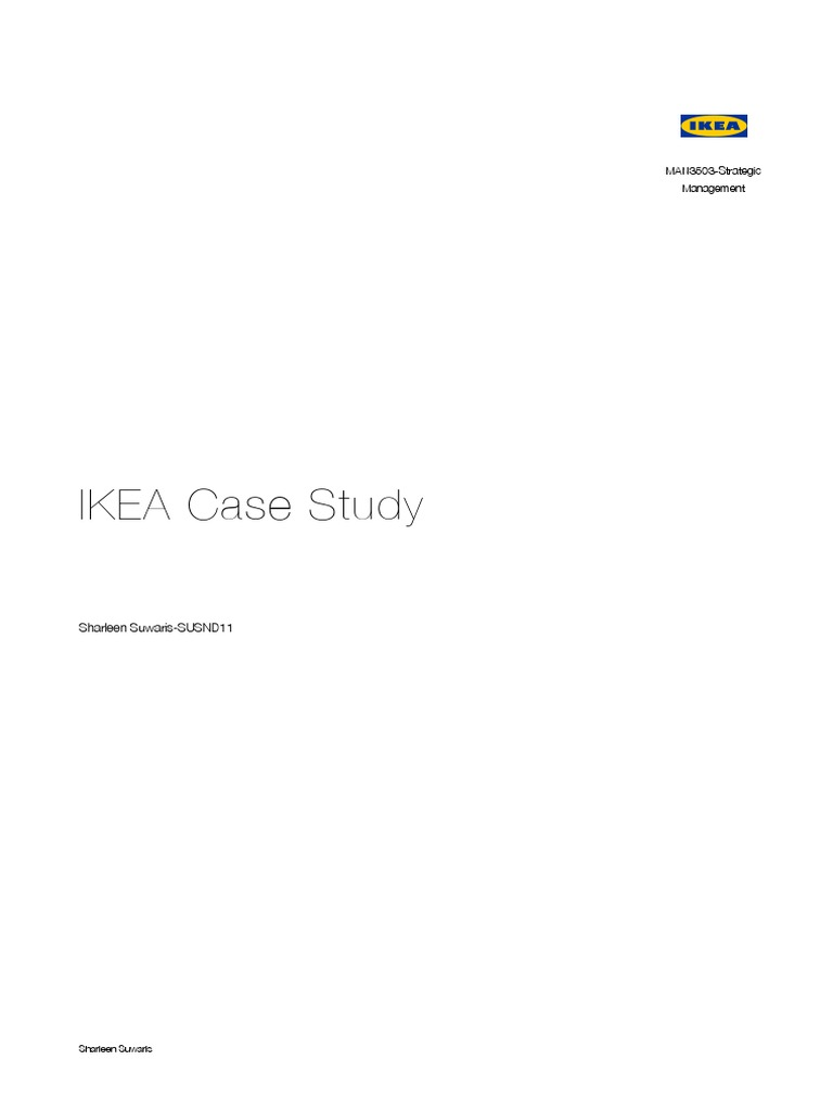 ikea case study answers Why did ikea implement the iway code, and how does it work answer the questions on this interactive online quiz and printable worksheet to find.