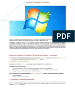 Windows 7 Ultimate [Informacion,Tutorial e Instrucciones