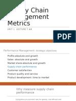 Unit 1 Lectures 78 Supply Chain Management Metrics