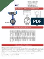 Valvula Borboleta Atuador Pneumatico - SI23