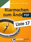 Piratenpartei - Grosser Rat Bern 2010 - Plakate F4