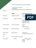 1.1 Grupos de Alimentos Salmorejo Andaluz
