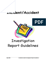 Investigation Guidelines