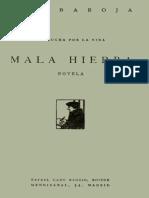 Pio Baroja-Mala Hierba
