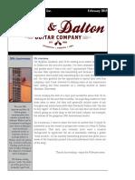 Huss & Dalton Newsletter - February 2015