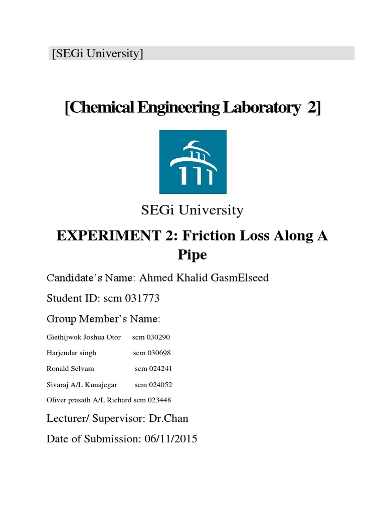 series and parallel pump lab report