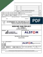 AHS-MRW-00-DAM-TS-001 Rev C Consultation Elevators