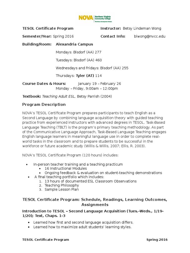 CAPES TESOL Certificate Syllabus_BL Wong | English As A