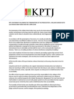 KPTJ Statement Following the Termination of the Prosecutor v Ruto and Sang Case
