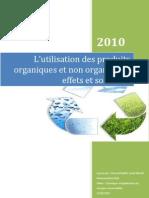 Produits organiques et non organiques