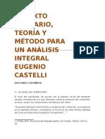 EL TEXTO LITERARIO, Eugenio Castelli