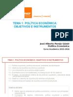 Tema 1_Política Económica Objetivos