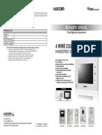 KCV-A374 User Manual
