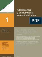 Adolescencia y Analfabetismo en a.L.