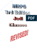 StarWars Jedi Classes