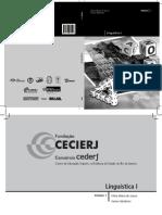 Apostila CEDERJ - Linguística I Vol. 1