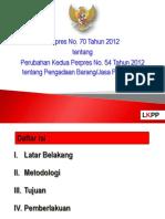 Bahan Tayang P70-2012 Eselon I September