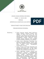 UU Nomor 31 Tahun 2009 Tentang MKG