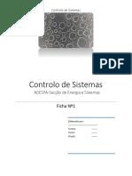 Ficha deExercicios Resolvidos (Controlo de Sistemas)