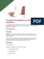 Formulario de Finiquito y Su Cálculo Automático