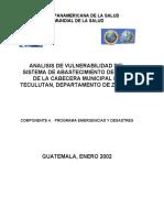 Analisis de Vulnerabilidad Del Sistema de Abastecimiento de Agua