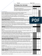 kindergarten math common core sequence checklist