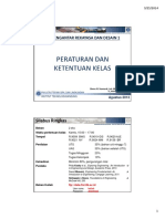 KU-1101 Pengantar Rekayasa Dan Desain I - FTSL (Class Regulations) 2014