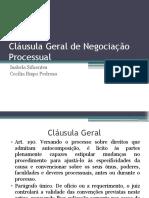 Cláusula Geral de Negociação Processual