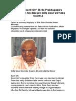 Sri Srimad Gour Govinda Swami Maharaja