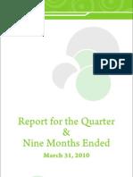 PTCL 3rd Quarter Final Report