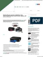 Perbandingan printer, kelebihan dan kekurangan printer merk Canon, Epson, HP ~ Printer