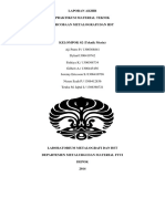 Contoh Laporan Akhir Praktikum Metalografi
