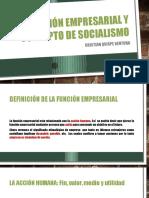 Función Empresarial y Concepto de Socialismo