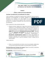 UNIDAD 3 CARACTERIZACION Y PROCEDIMIENTOS DE CALIDAD
