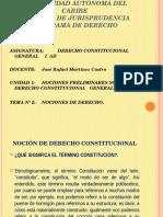 Unidad No 1 Tema No 2 Nocion de Derecho Constitucional (1)