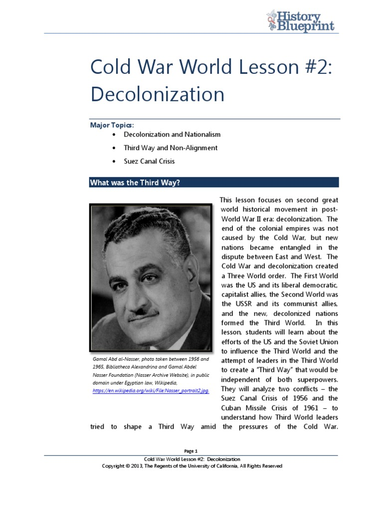 decolonization and influence of the cold war essay The postcolonial cold war with each other during the mid-twentieth century for influence among wave of decolonization after world war ii.