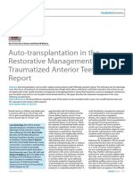 Auto-transplantation in the Restorative Management of Traumatized Anterior Teeth_A Case Report