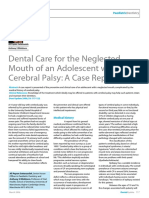 Dental Care for the Neglected Mouth of an Adolescent With Cerebral Palsy_A Case Report