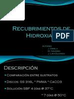 Recubrimientos de Hidroxiapatita