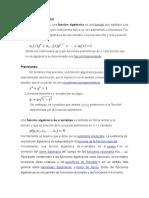 funciones algebraicas