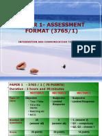Paper 1- Assessment Format (3765
