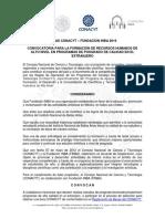 Convocatoria Becas CONACYT FINBA 2016