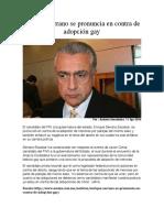 2016-04-11 Enrique Serrano se pronuncia en contra de adopción gay