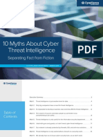 10 Myths About Cyber Threat Intelligence - Separating Fact From Fiction