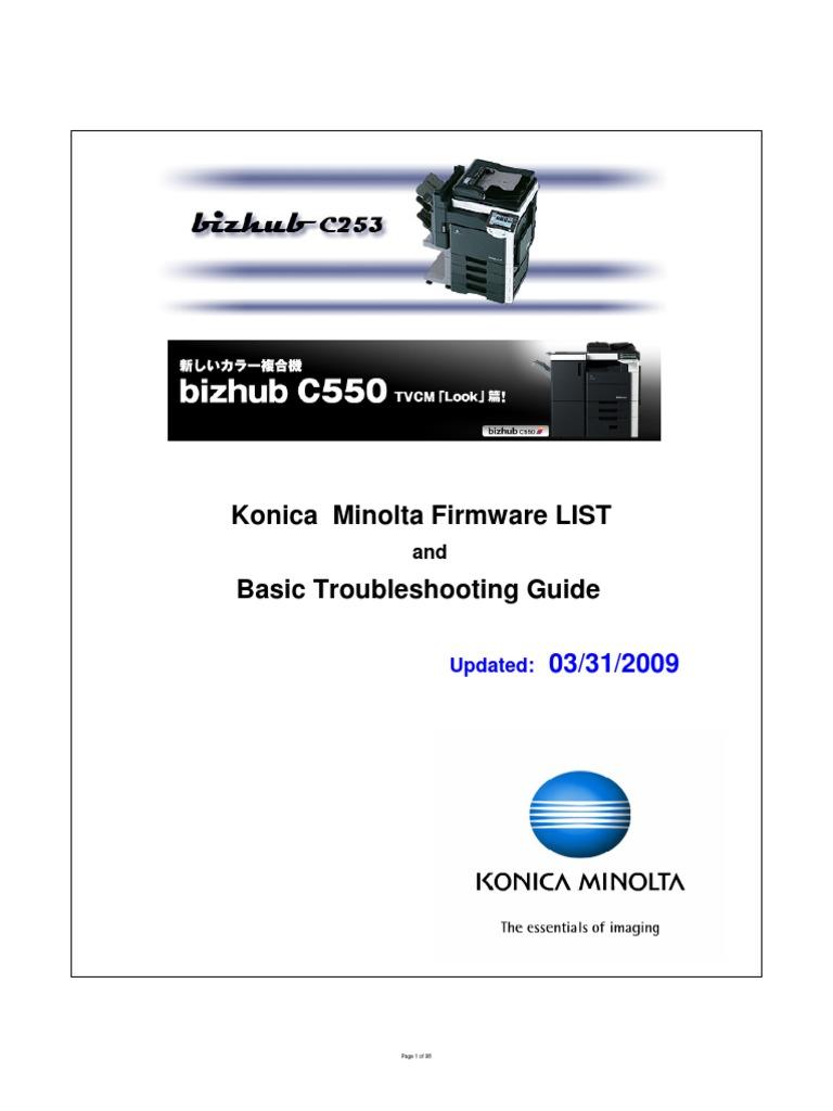 konica minolta firmware list rh es scribd com