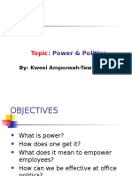 Organizational Behavour Management-Power & Politics