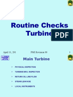 Turbine Walkdown Checks PMI